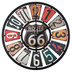 Route 66 Wood Wall Clock